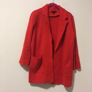 J. Crew Red Sweater Cardigan Jacket S